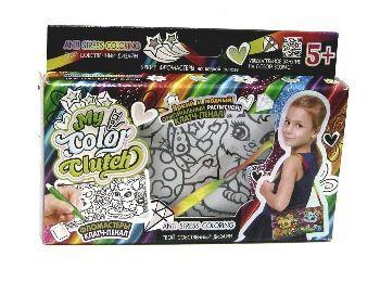 """Набор для росписи сумочки-клатча """"My Color Clutch"""", клатч-пенал-раскраска """"Котёнок и щенок"""""""