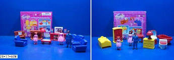 """Кукольный набор мебели """"Jennifer: спальня и ванная + фигурки семьи"""""""