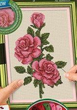 """Вышивка крестиком на канве """"Cross Stitch: Розы"""""""