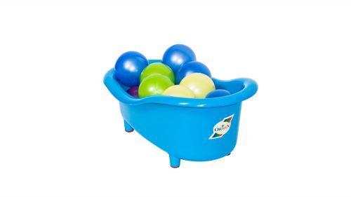 Ванночка для куколс шариками, большая (синяя)