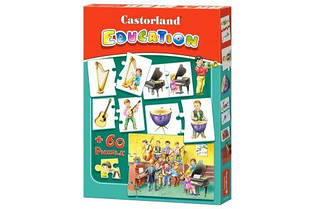 """Пазлы Castorland """"Education. Музыкальные инструменты"""" 60 элементов E-081"""