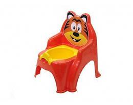 """Детский горшок-стульчик """"Тигр"""" (оранжевый)"""