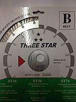 Алмазный отрезной круг THREE STAR 230х22.2 ТУРБО