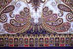 "Платок павлопосадский шерстяной Павловопосадский ""Фаворит"" с шелковыми кистями, размер 125х125, рис. 1344-13, фото 4"