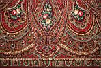 "Платок шерстяной с шелковой бахромой ""Самарканд"", 125х125 см, рис. 998-5, фото 2"