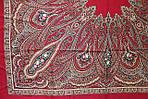 "Платок шерстяной с шелковой бахромой ""Самарканд"", 125х125 см, рис. 998-5, фото 4"