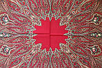 "Платок шерстяной с шелковой бахромой ""Самарканд"", 125х125 см, рис. 998-5, фото 5"