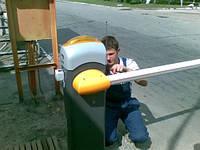Монтаж шлагбаума, с бетонировкой приямка