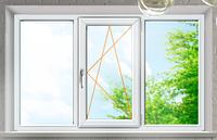 WDS Окно металопластиковое на 3 створки открывное