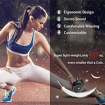 Спортивные  Bluetooth наушники JUHALL с микрофоном Sweatproof и чехлом-зарядкой, фото 2