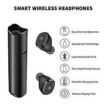 Спортивные  Bluetooth наушники JUHALL с микрофоном Sweatproof и чехлом-зарядкой, фото 3