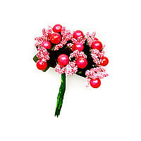 Тычинки на проволоке 8011-10 малиновые (12 шт)