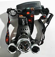 Акумуляторний ліхтарик налобний RJ3000 T6 +COB, фото 1