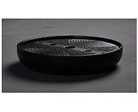 Чабань (чайный столик, чайная доска) керамика черного цвета 20*20*4 см, фото 1