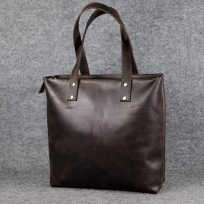 Кожаная сумка Shopper-mini