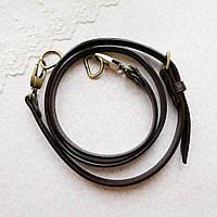 """Ручка для сумки длинная """"Панама"""" 1.8 см - до 125 см, коричневая, бронза, фото 1"""