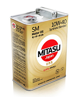 Масло моторное MITASU MOTOR OIL SM 10W-40 Synthetic Blended ✔ 4л.
