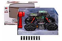 Машина джип всюдихід на пульті 2 в 1 колеса + гусеничний хід 8897-193E, радіо, акум., зарядка