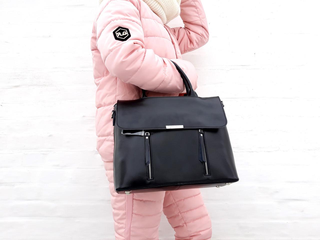 1a913bfbdd2e ... Большая кожаная женская сумка Galanty из плотной кожи, Бежевая  (молочная), ...