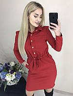 Стильное супер платье на пуговках с кармашками, фото 1