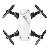 S9 Micro складной радиоуправляемый дрон квадрокоптер с пультом управления. Цвет белый