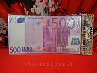 Магнитные деньги евро разные фен-шуй на холодильник