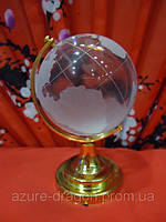 Глобус прозрачный стеклянный h=8см