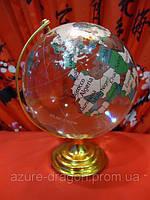 Глобус прозрачный стеклянный h=15см