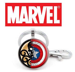 Брелок с символикой Гидры и Капитана Америки Marvel
