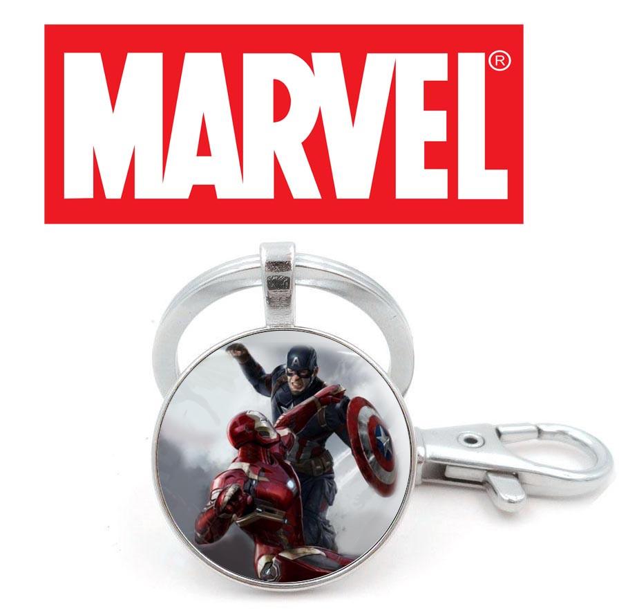Брелок с Тони Старком и Капитаном Америка Marvel