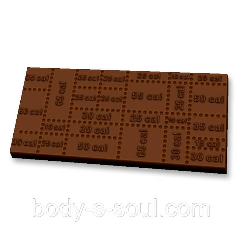 "Пластиковая форма для шоколада ""Калории"""