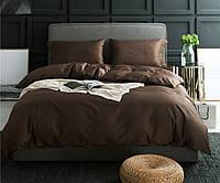 Комплект постельного белья из элитного однотонного сатина Шоколад