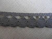 Тесьма натуральная серая, 1,7 см ( 1 метр)