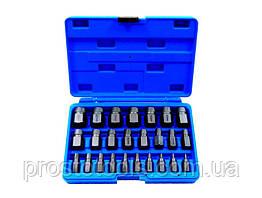 Набор бит-экстракторов для извлечения поврежденных болтов 25пр.
