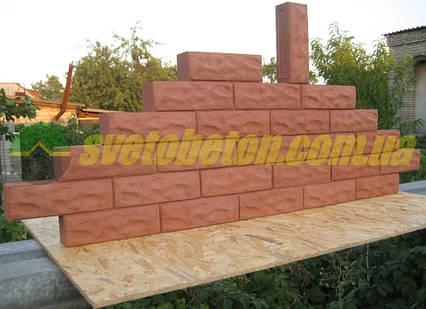 Декоративный кирпич рваный камень, бетонный блок для забора или облицовки стен, цоколя.