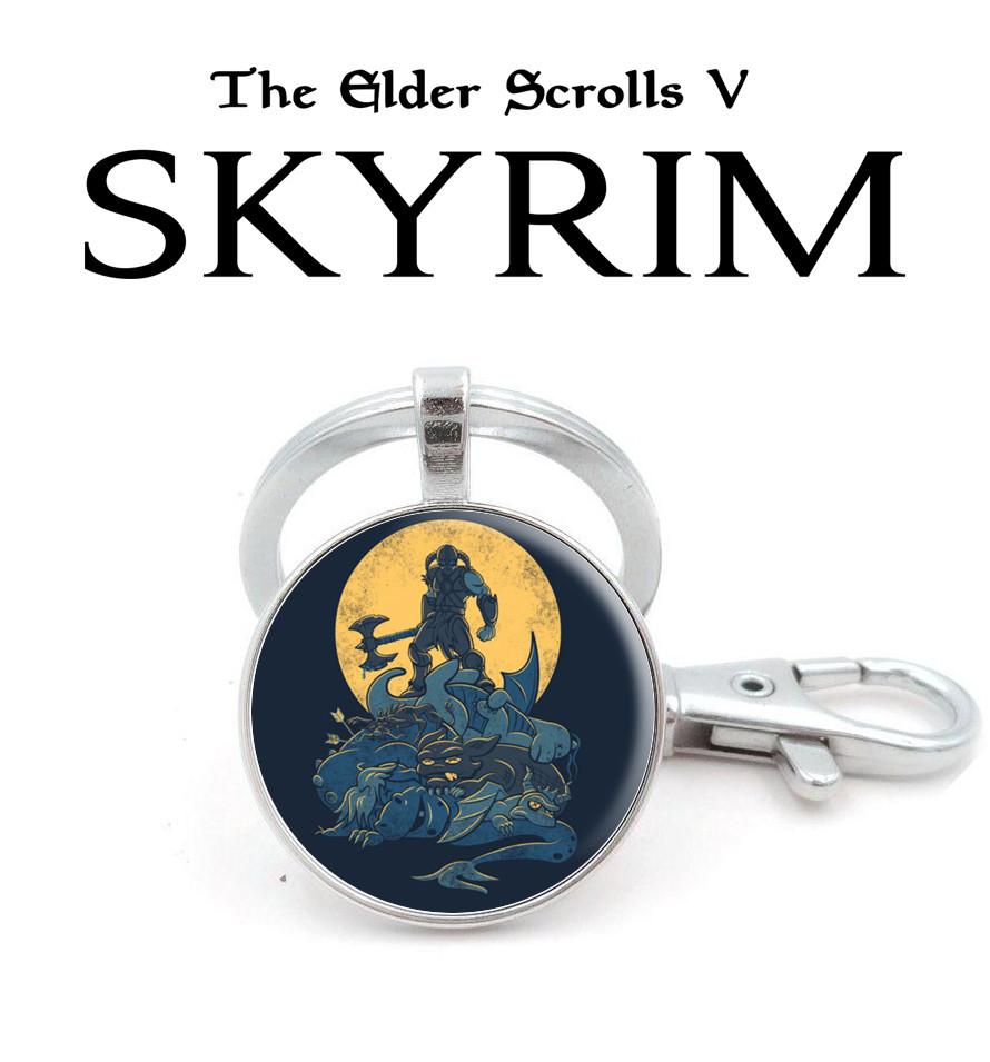 Брелок с рисунком Skyrim