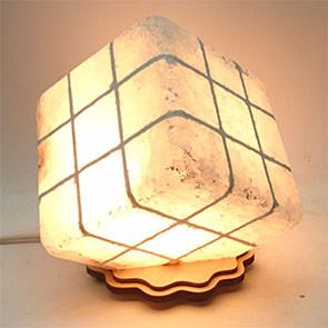 Соляной светильник - Куб резной