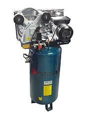 Компрессор 100 л 2-х поршневой с ременным приводом вертикальный (2.2кВт, ресивер 100л, 250л/м, 220В)F-TB265-10
