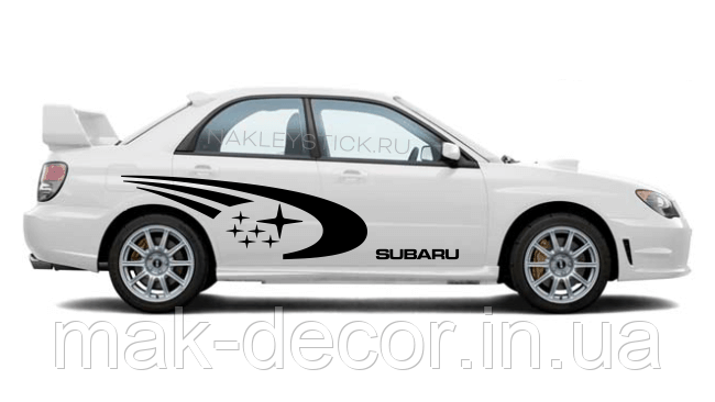 Набор наклеек Subaru World rally team (цена за размер 50х120 см) 2 шт