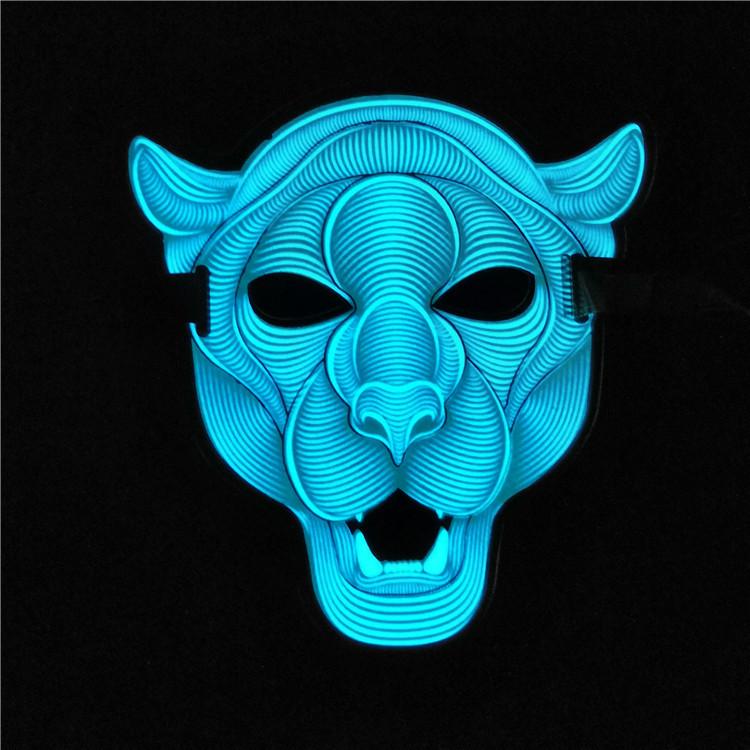 Маска светящаяся под музыку! Звуковая светодиодная маска