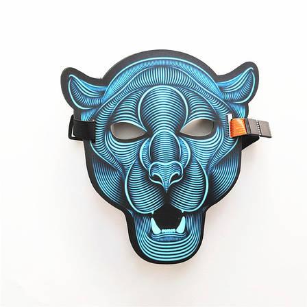 Маска светящаяся под музыку! Звуковая светодиодная маска, фото 2