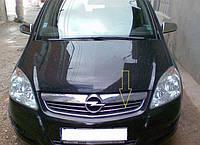 Накладки на решетку радиатора Opel Zafira B 2006-2011 (6 шт. нерж.) Carmos