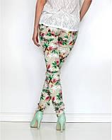 Женские цветочние брюки ,женские штаны   с цветами