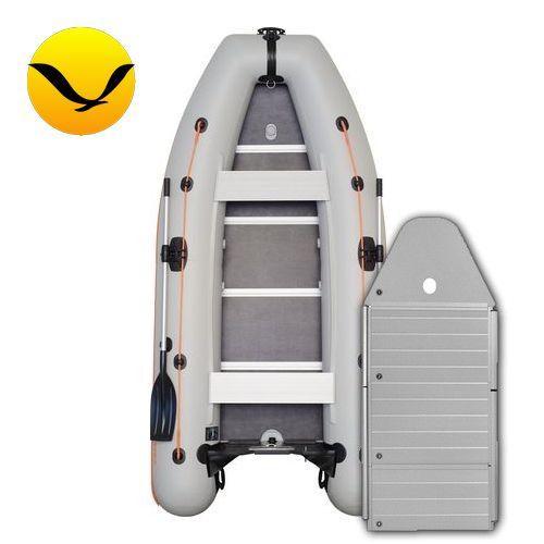 Лодка Kolibri KM-330DSLAl. Моторная, 3,30м, 4 места, 1100/1100 ПВХ, сдвижные сиденья, алюминиевое днище, килевая. Надувная лодка ПВХ Колибри