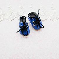 Обувь для кукол, ботиночки синие - 5*2.5 см