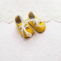 Обувь для кукол Ботиночки на Шнуровке 5*2.5 см ЖЕЛТЫЕ, фото 1