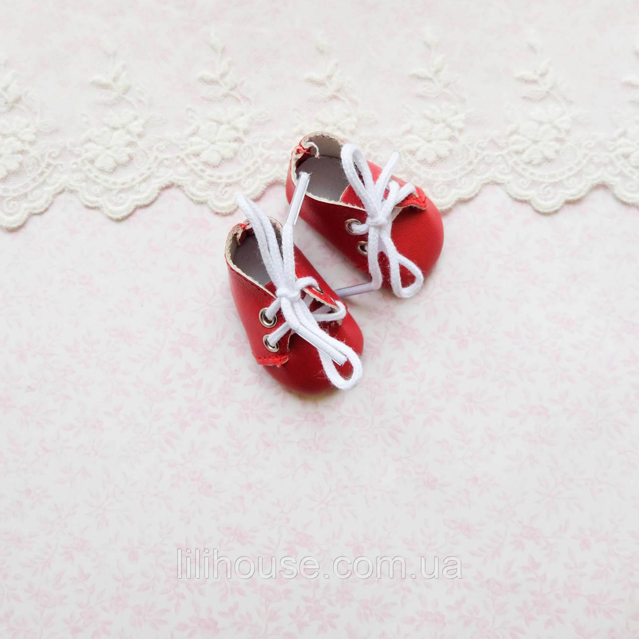 Обувь для кукол Ботиночки на Шнуровке 5*2.5 см КРАСНЫЕ