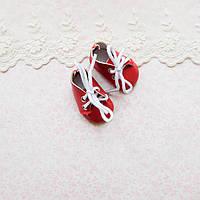 Обувь для кукол Ботиночки на Шнуровке 5*2.5 см КРАСНЫЕ, фото 1