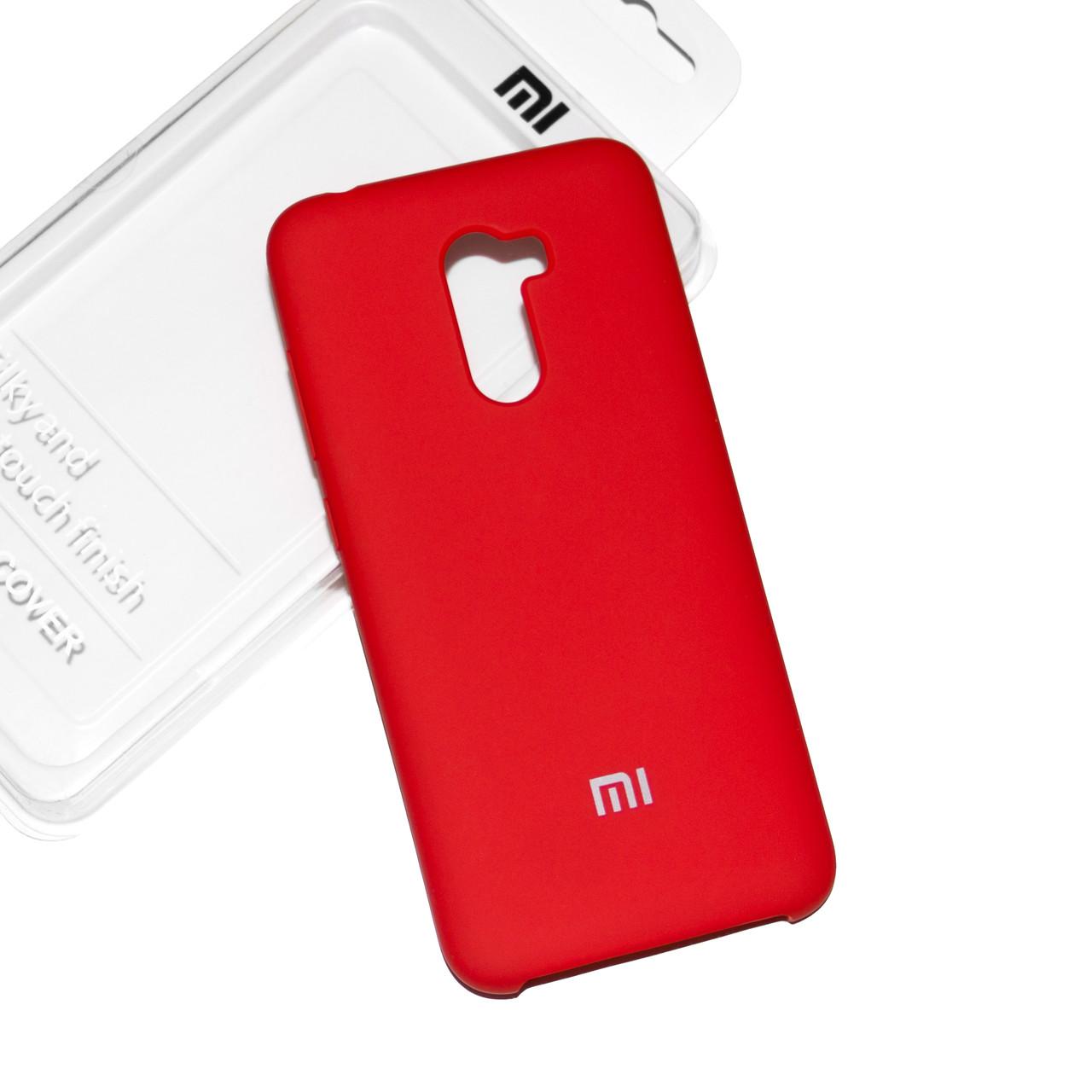 Силиконовый чехол на Xiaomi Pocophone F1 Soft-touch Red