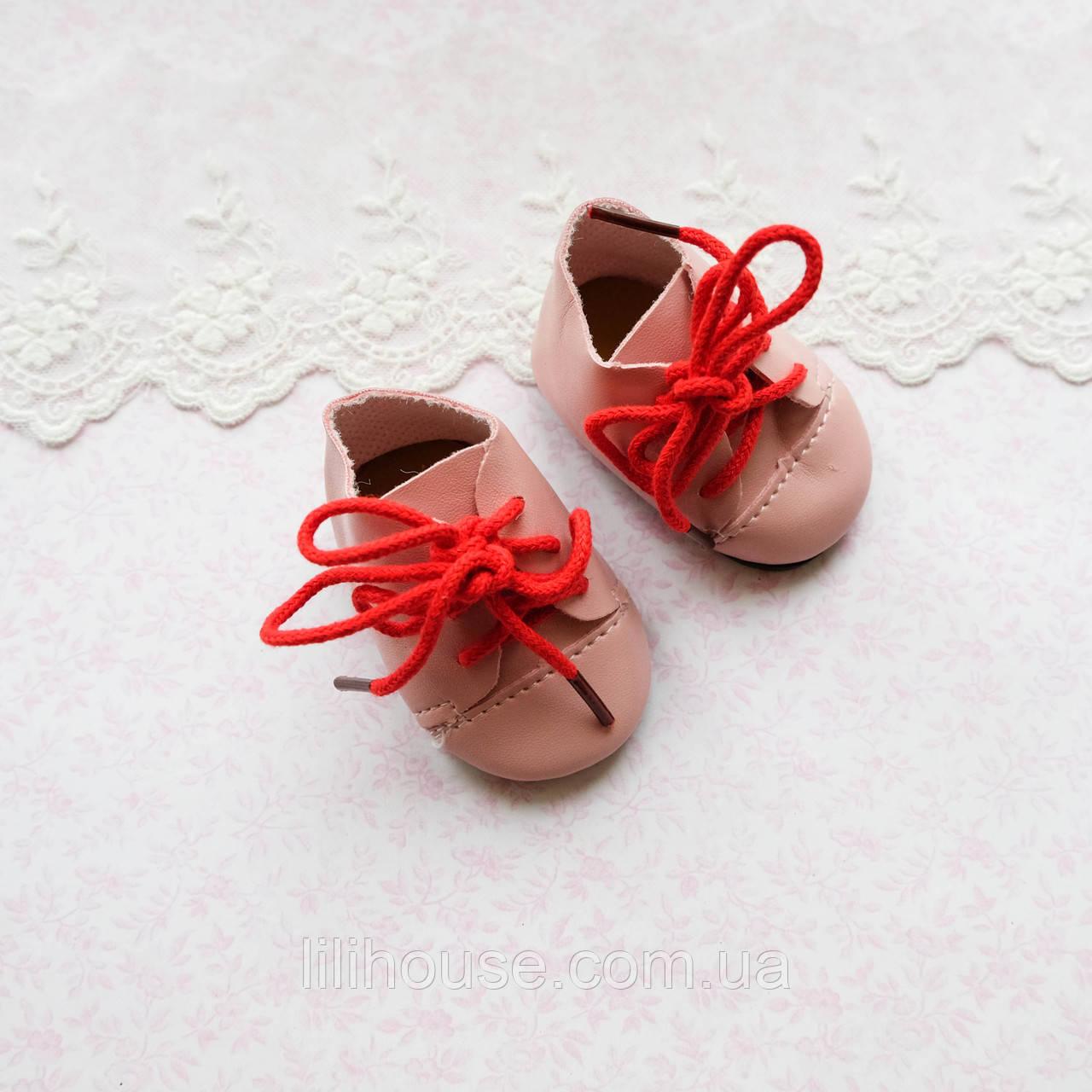 Обувь для кукол Ботиночки 6.5*3.5 см РОЗОВЫЕ